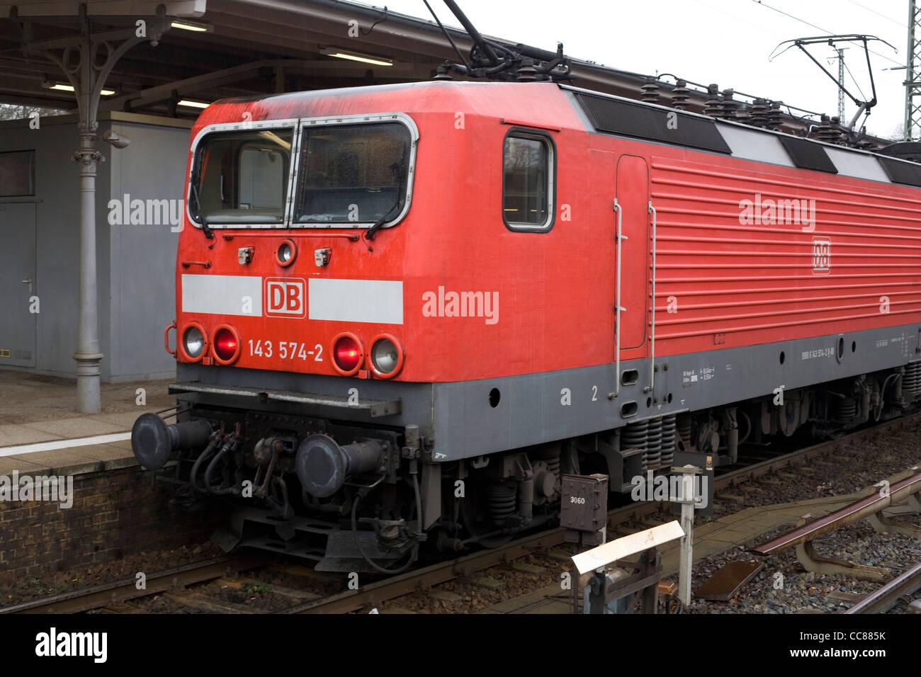 S-Bahn Berlin, Wannsee, Deutschland Stockbild