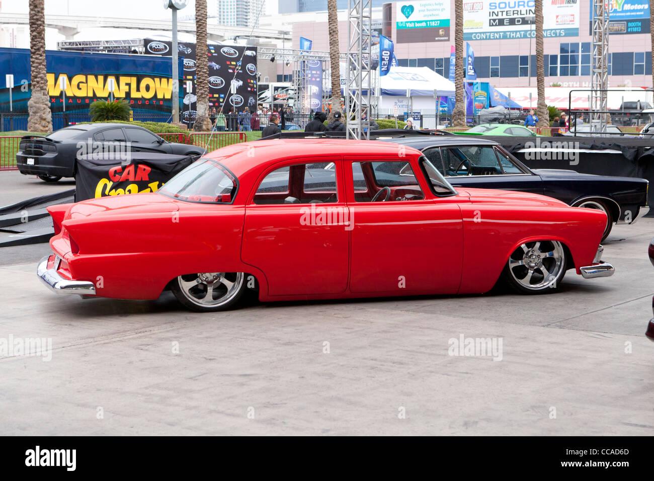 Umgebauten 50er Jahre Chevy low rider Stockbild