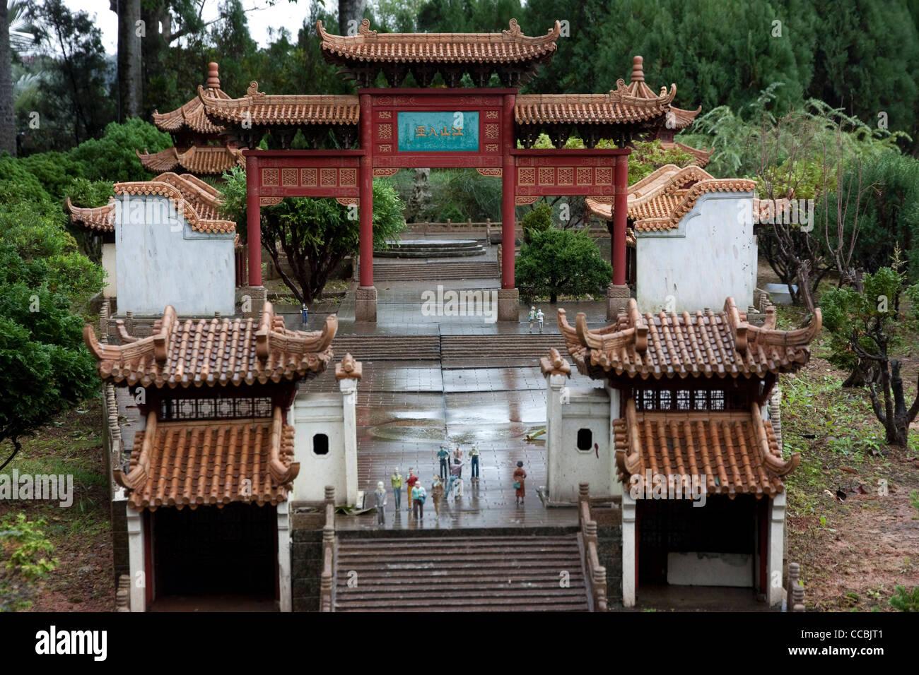 Berühmte Architektur miniatur berühmte architektur aus aller welt am fenster auf china