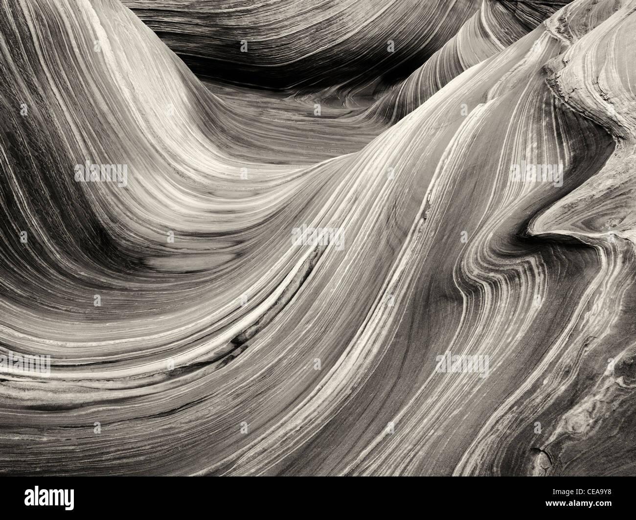 Sandtone Bildung in North Coyote Buttes, The Wave. Paria Canyon-Vermillion Cliffs Wilderness. Utah und Arizona Stockbild