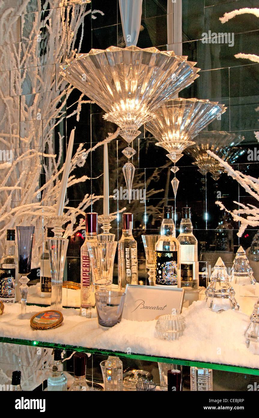 Baccara Place de Madeleine Paris Frankreich Kristallgläser Frankreich. Stockbild
