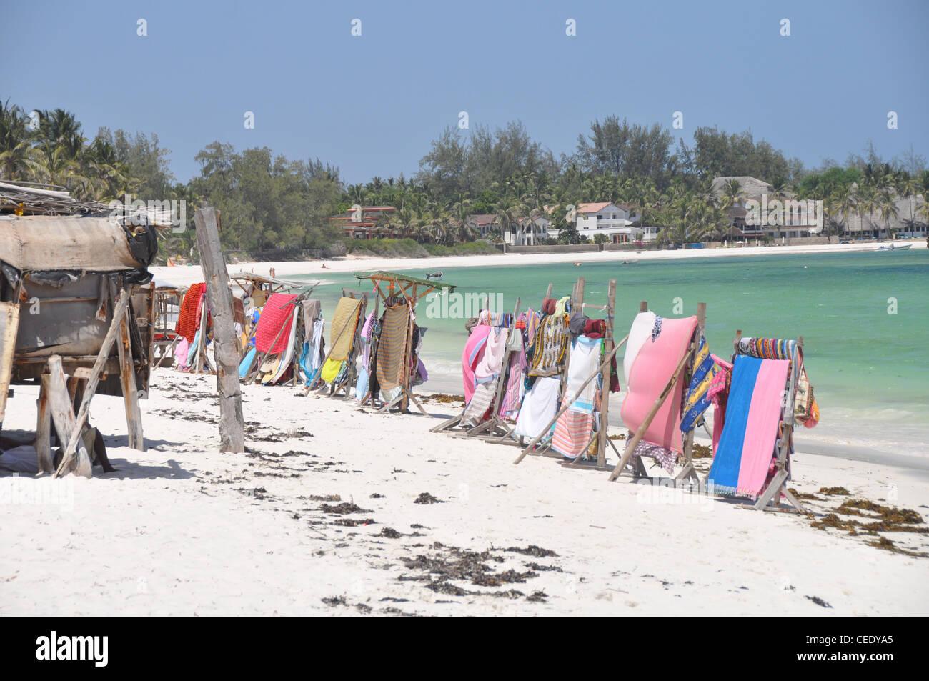Afrikanische Strand Markt Stockbild