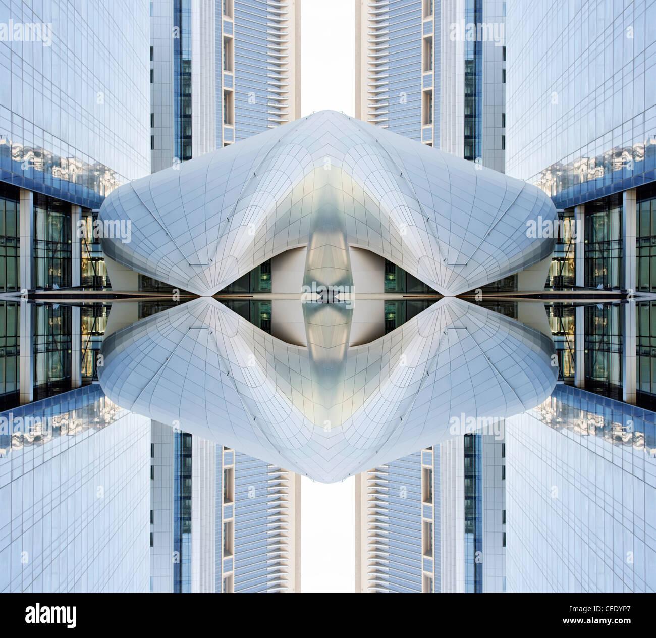moderne Architektur abstrakt Stockbild