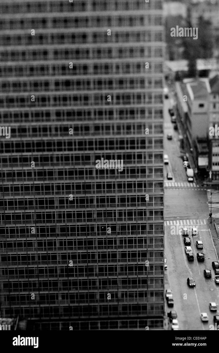 Mailand, Luftbild mit Wolkenkratzer Stockbild
