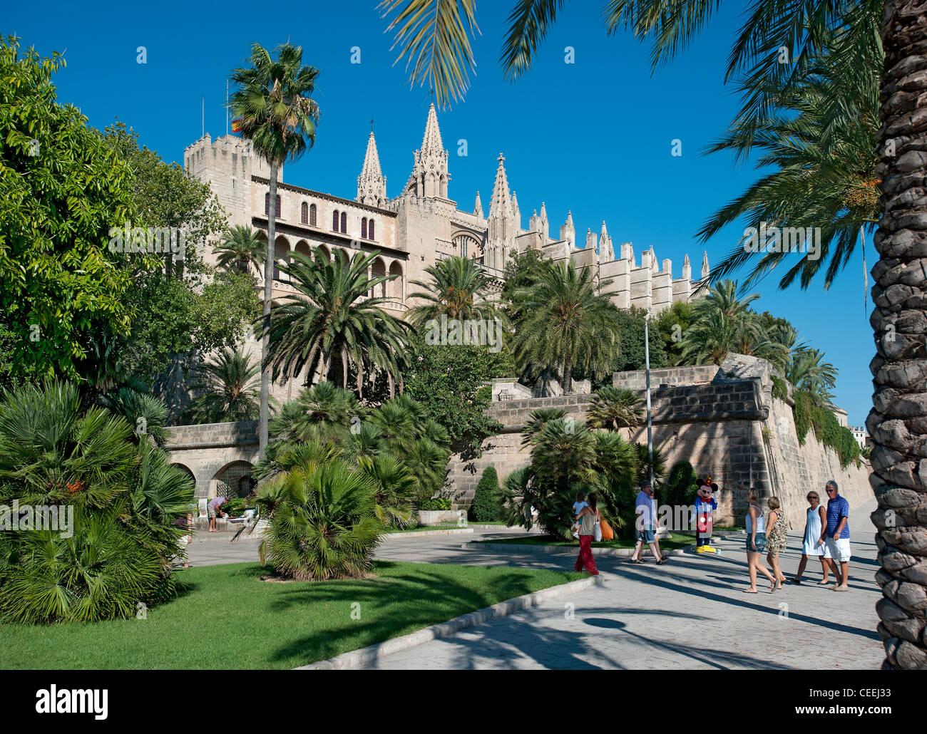 Dom Parc De La Mar Palma Mallorca Balearen Spanien Stockbild