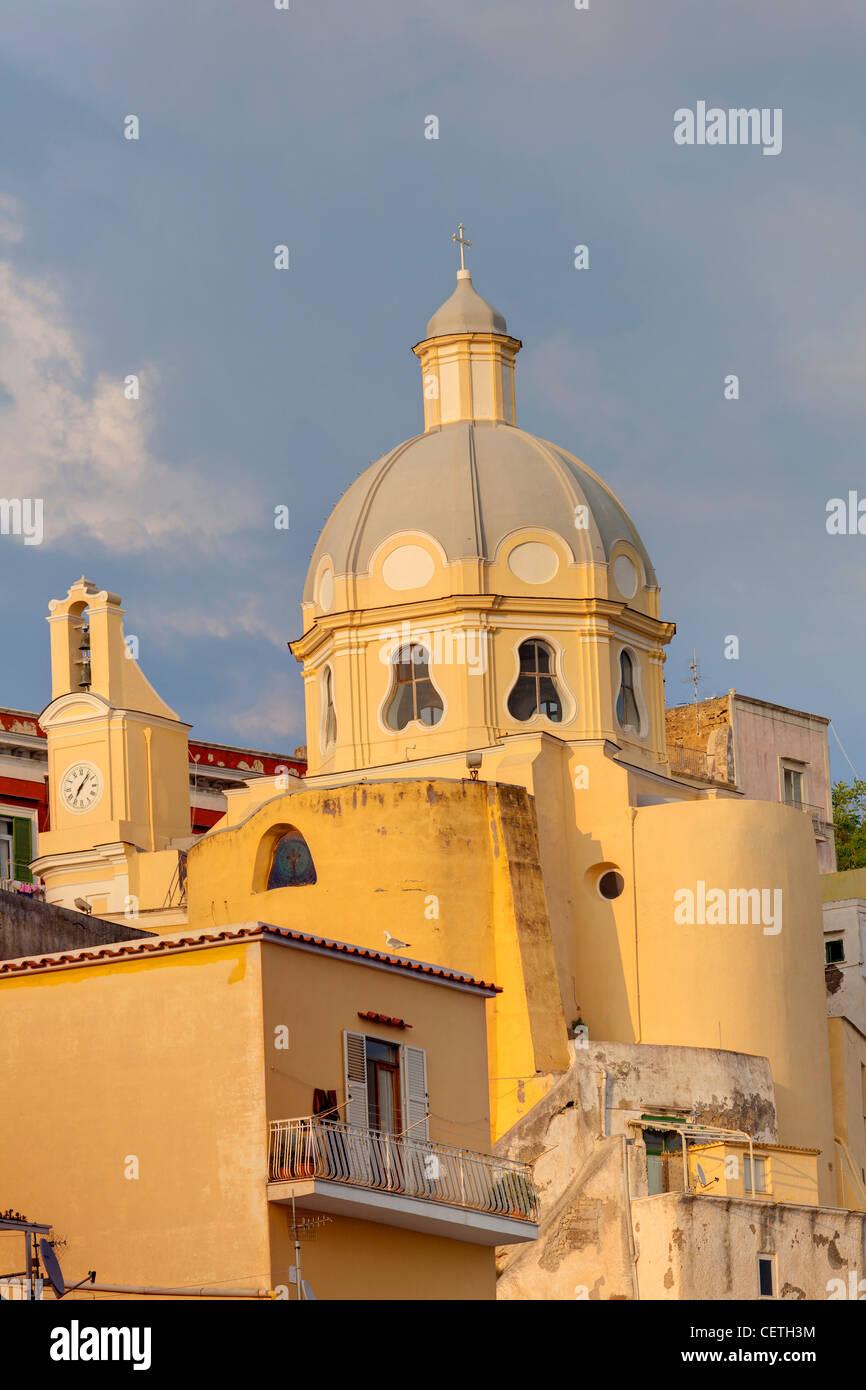 Kirche. Coricella. Insel Procida. Italien Stockbild