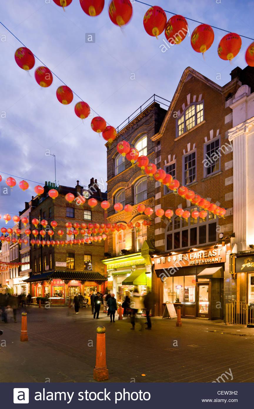 Chinatown, mit chinesischen Neujahrsfest Stockbild