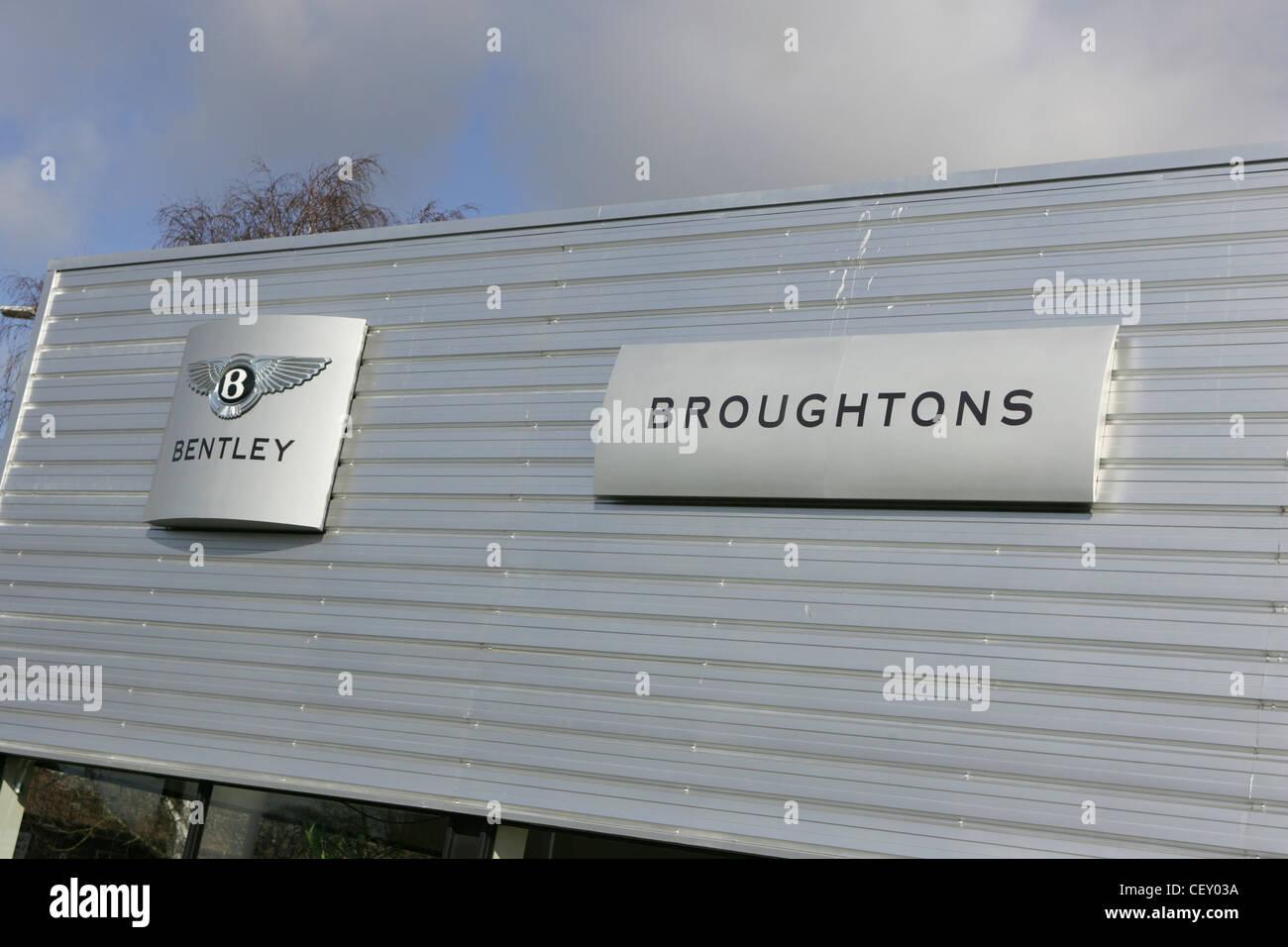 Broughtons Bentley Autohaus, Cheltenham uk Stockbild