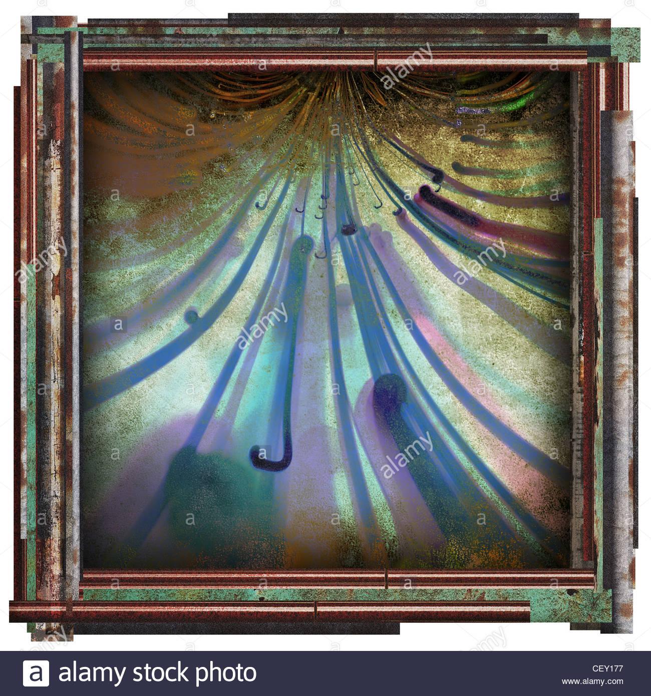 abstrakte Kunst Bild Stockbild