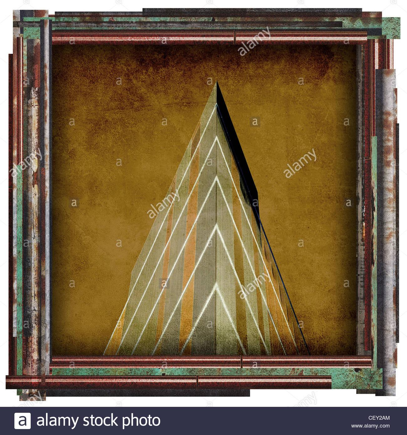 abstrakte Hochhaus Bild Stockbild