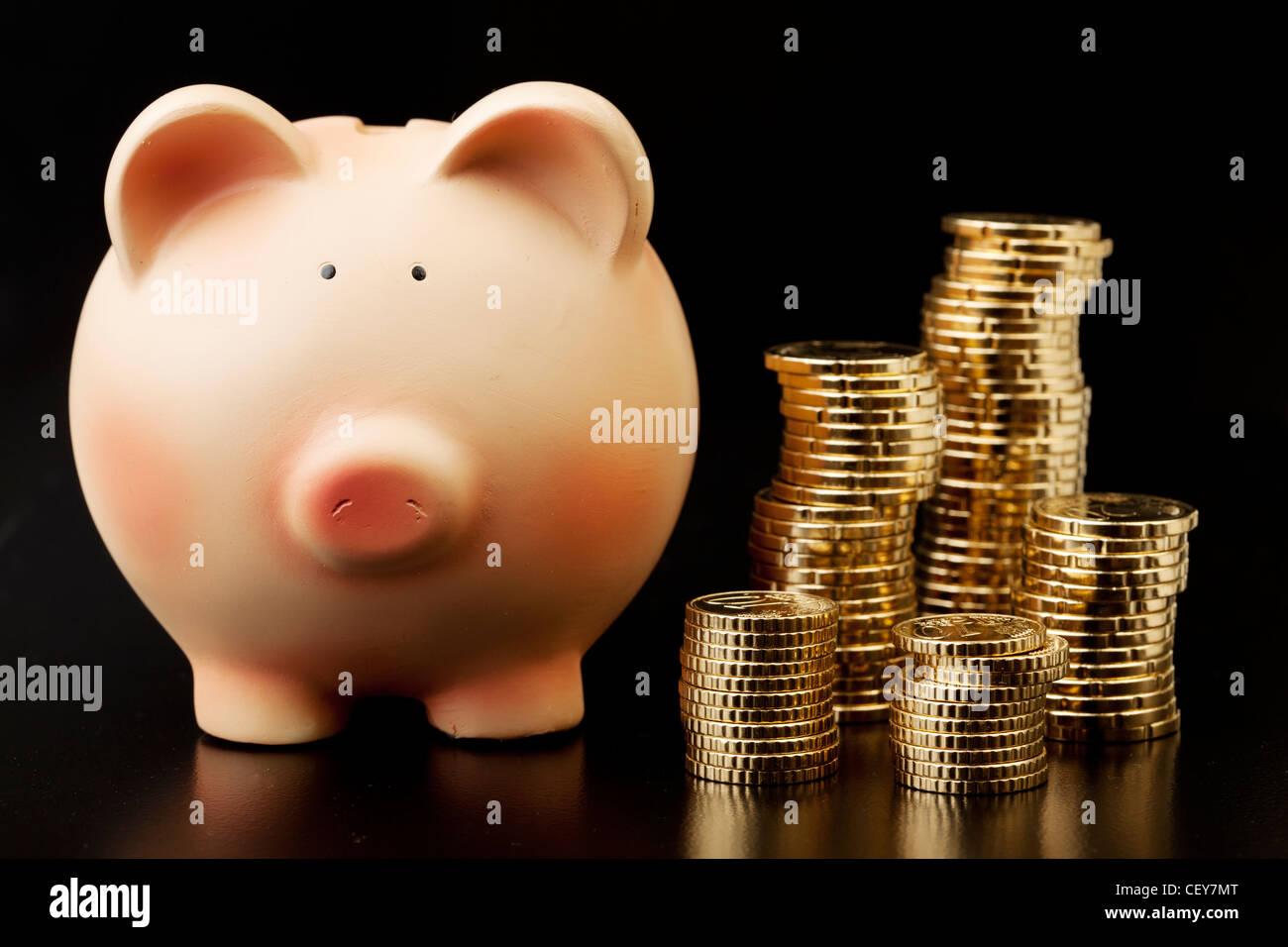 Geld sparen Stockbild