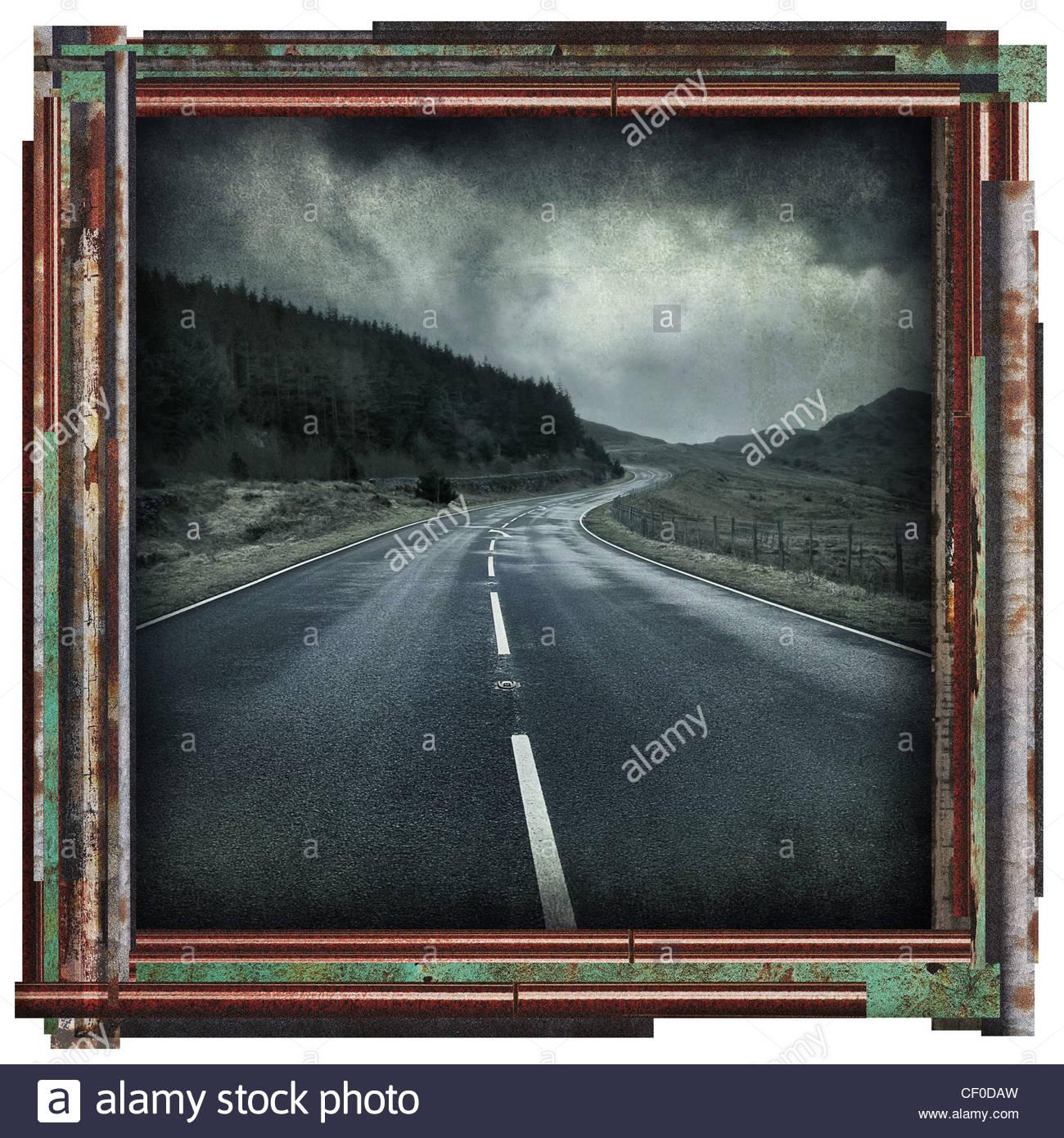 leere Straße Bild Stockbild