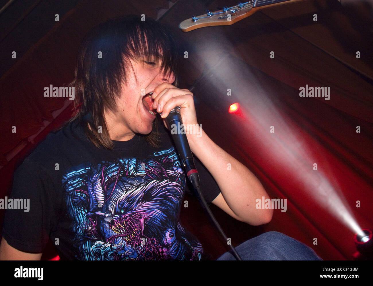 Laden Sie dieses Alamy Stockfoto Matty Awbery AQOE, Winnington 26.03.2010 - CF13BM