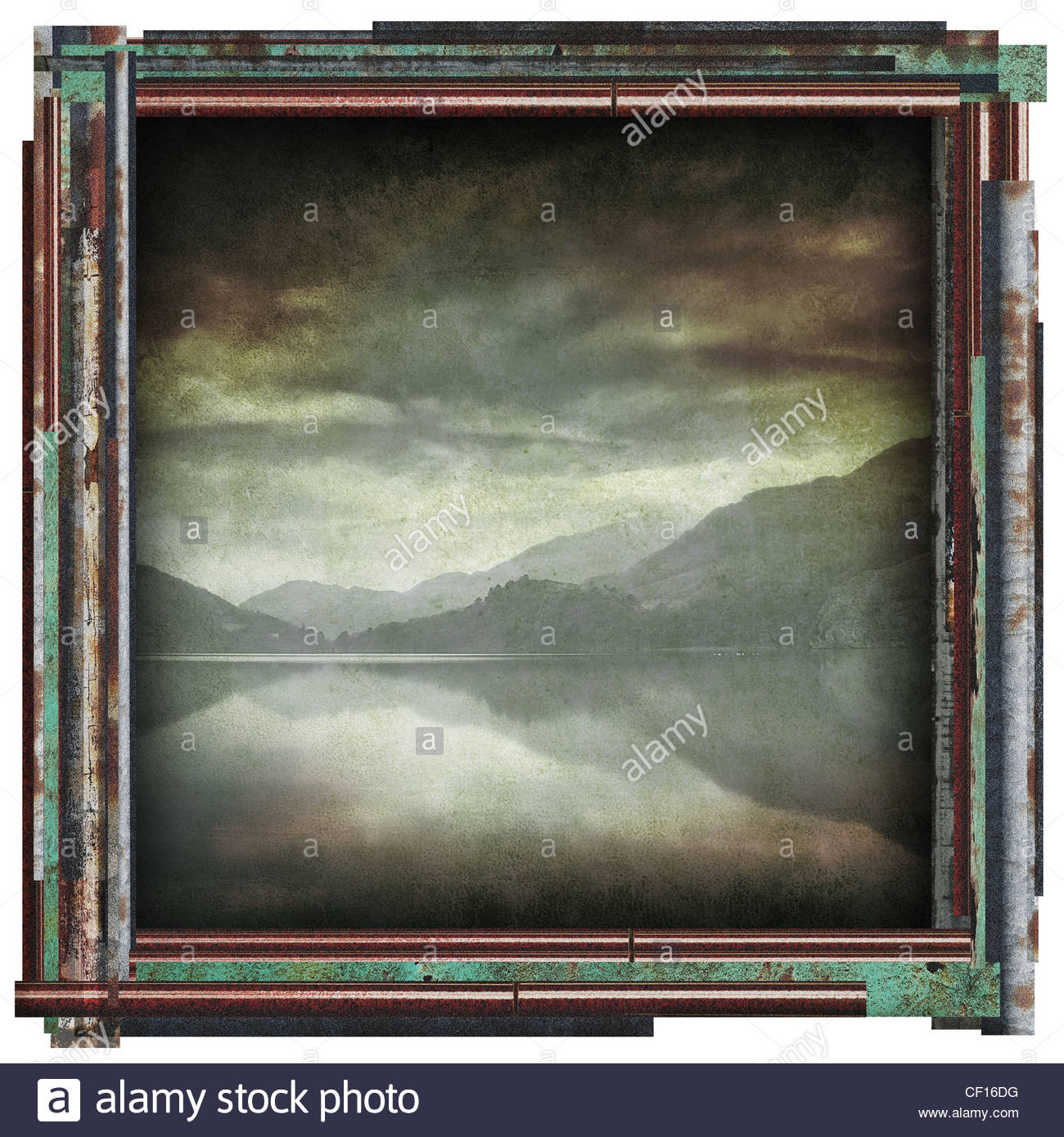 See-Reflexion-Bild Stockbild