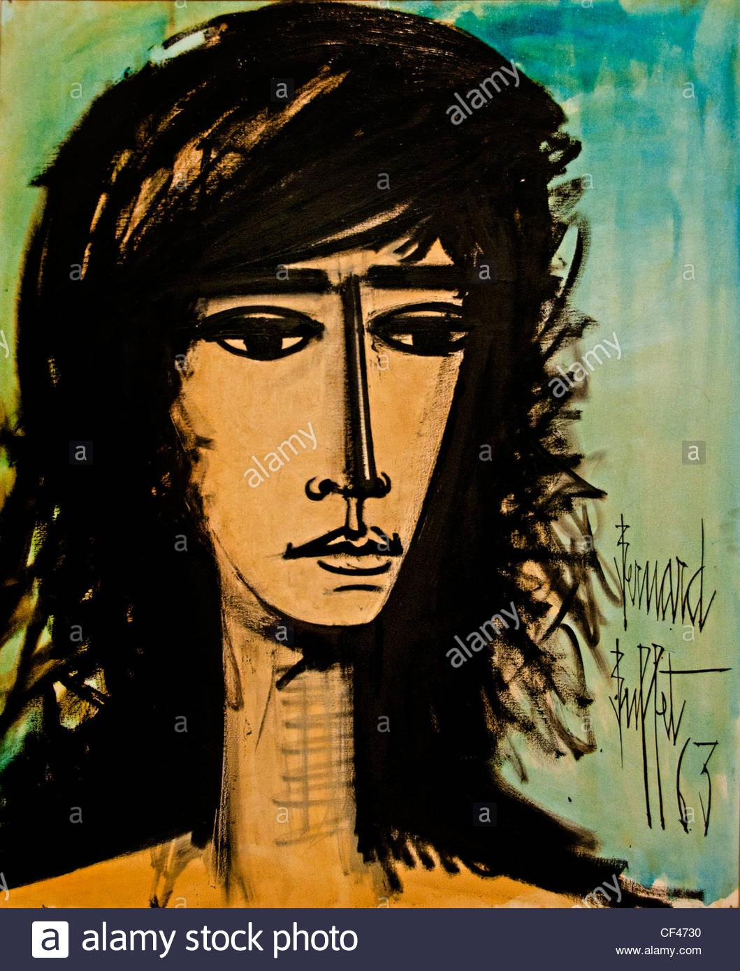 Francoise Hardy 1963 Bernard Buffet Maler 1928-1999 Frankreich französische Sängerin Schauspielerin und Stockbild