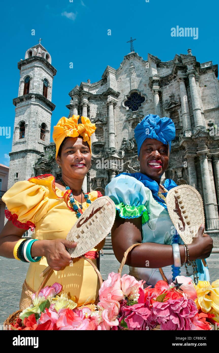 Catedral De La Virgen Maria De La Concepcion Inmaculada De La Habana Plaza De La Catedral Havanna Kuba Stockbild