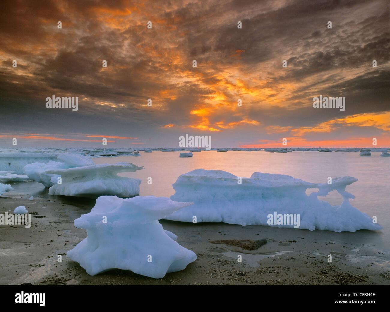 Eisberge in der Hudson Bay in Churchill, Manitoba, Kanada Stockbild