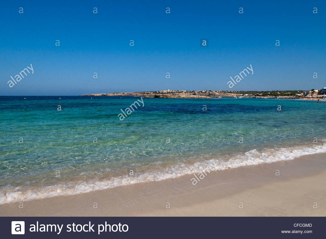 Strand Es Pujol-Formentera-Balearen-Spanien Stockbild