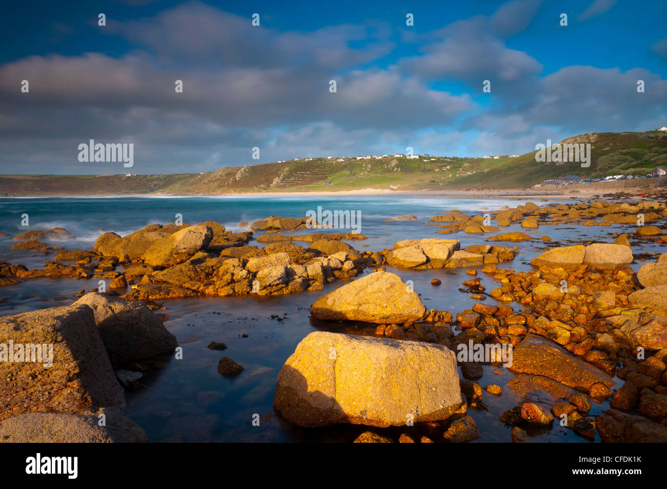 Sennen Cove, Whitesand Bay, Cornwall, England, Vereinigtes Königreich, Europa Stockbild
