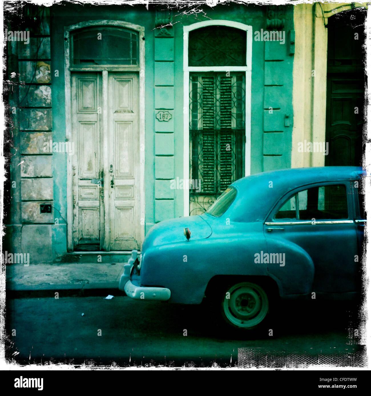 Amerikanische Oldtimer, Havanna, Kuba, Westindische Inseln, Karibik, Mittelamerika Stockbild