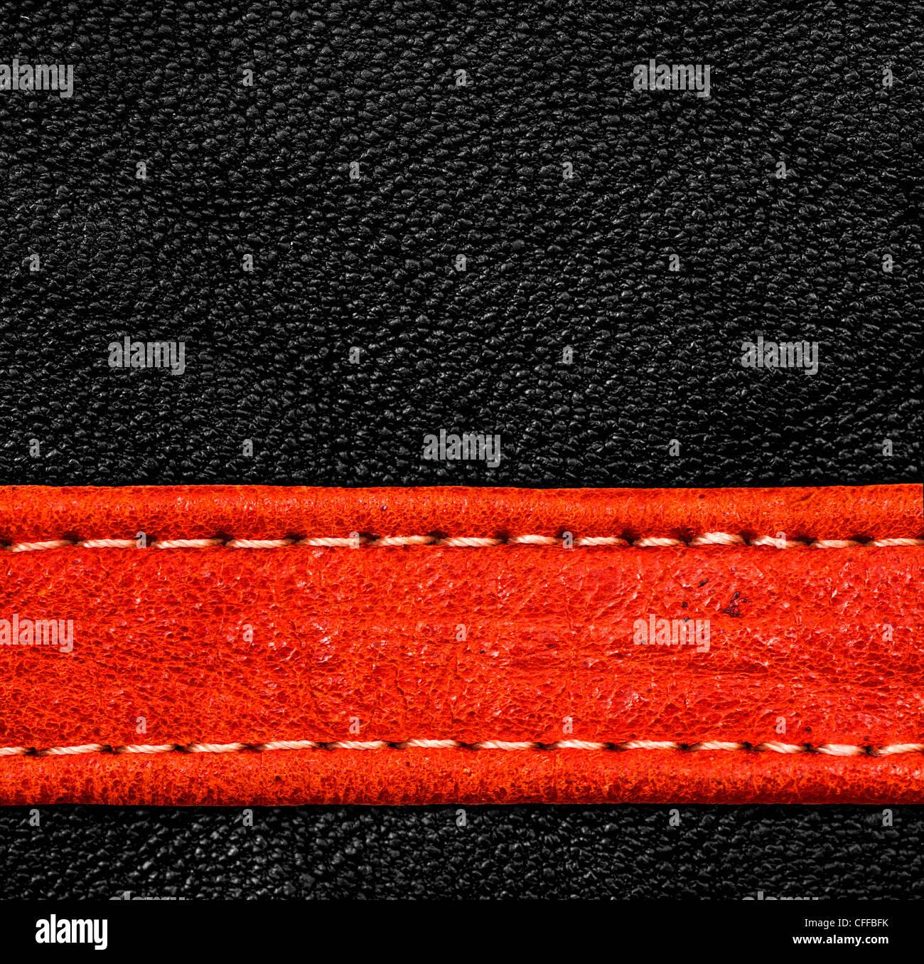 Eine braune Leder-Textur. hohe Auflösung. Stockbild