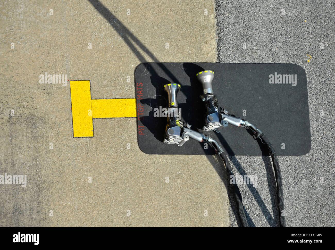 Formel eine Hydraulikleistung Schraubenschlüssel Stockbild
