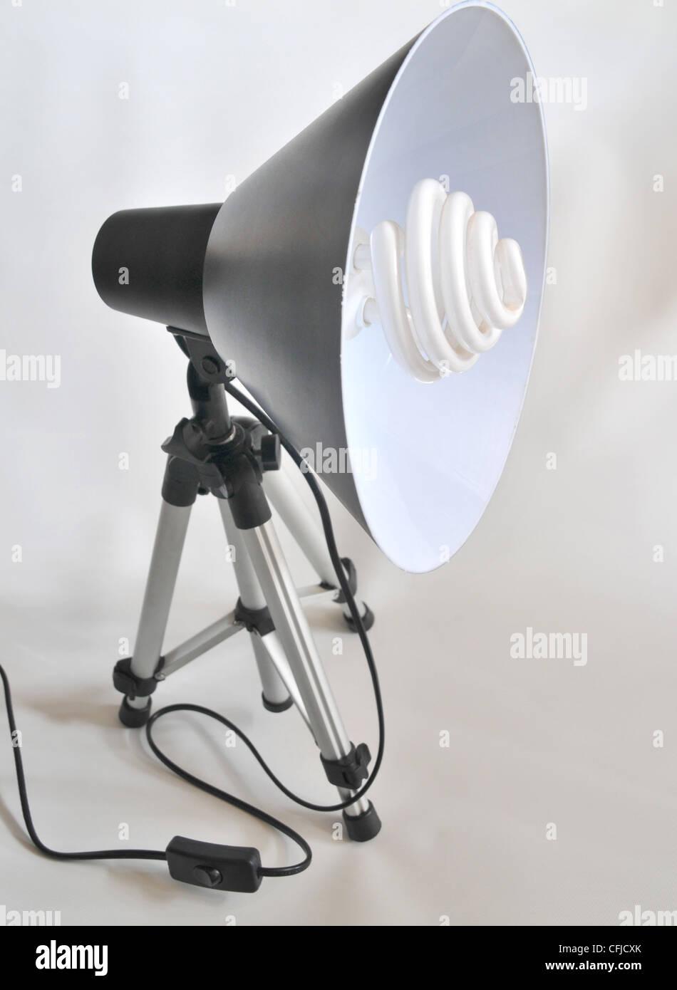 Fluoreszierende Studio Tageslicht. Stockbild