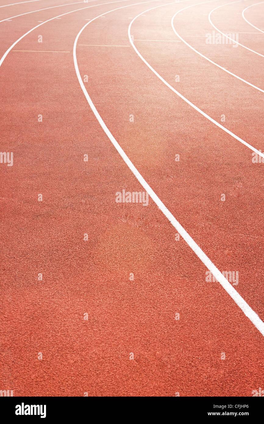 Laufstrecke Stockbild