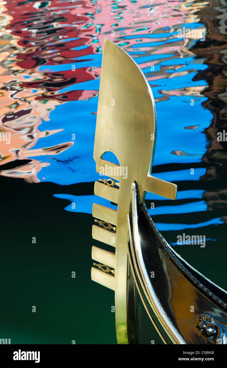 Gondel Detail, Venedig, Veneto, Italien, Europa Stockbild