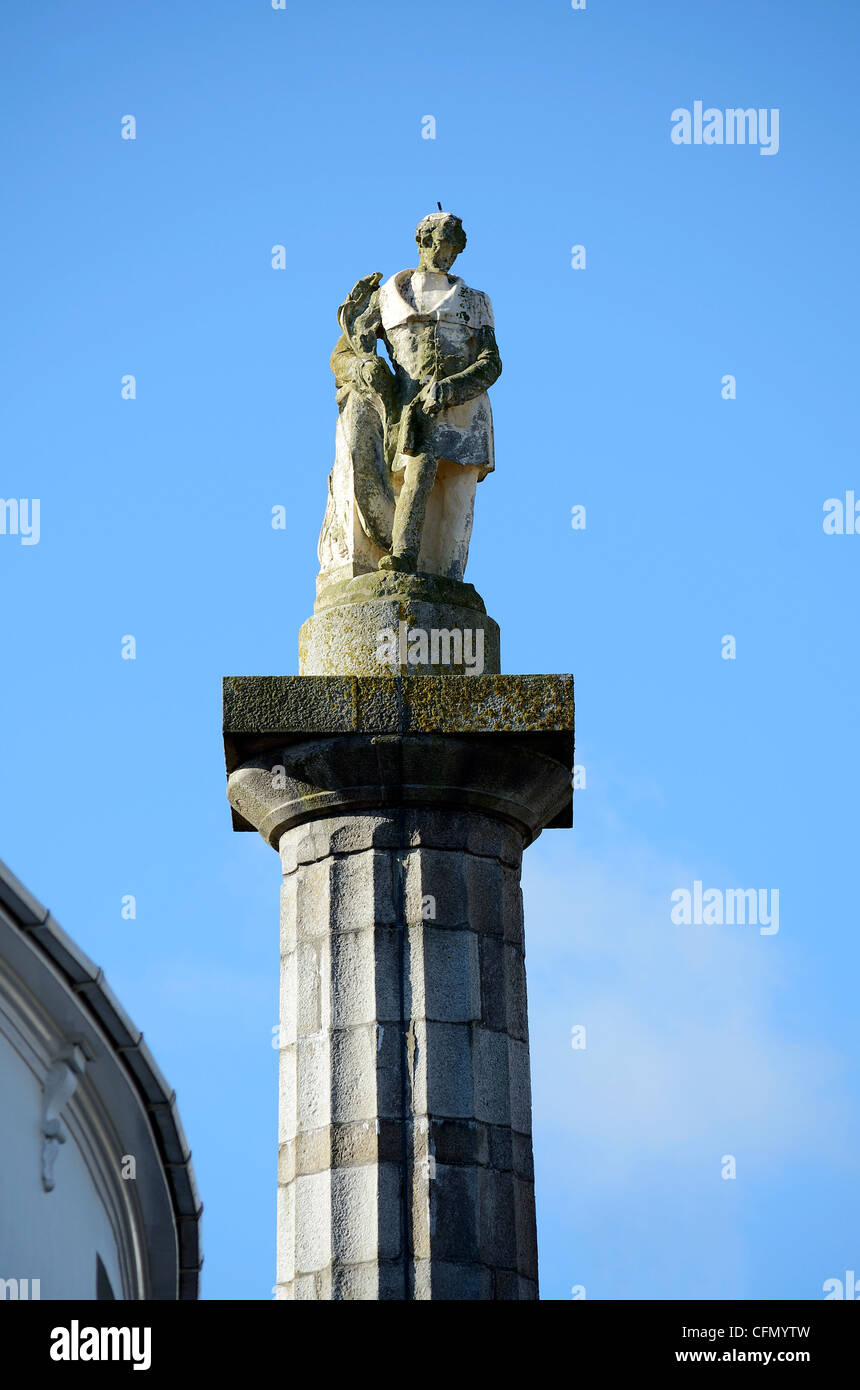Statue von Richard Lander in Truro, Cornwall, UK Stockbild