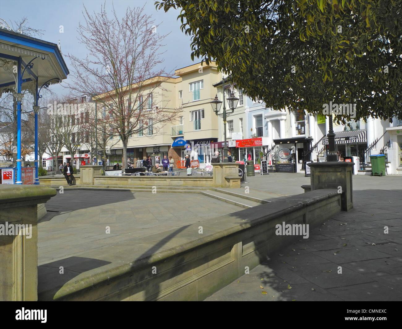 Horsham in West Sussex. Dies ist die Carfax. Stockbild