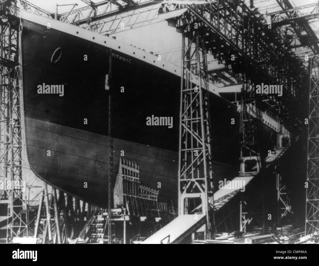 Die Titanic im Trockendock Stockbild