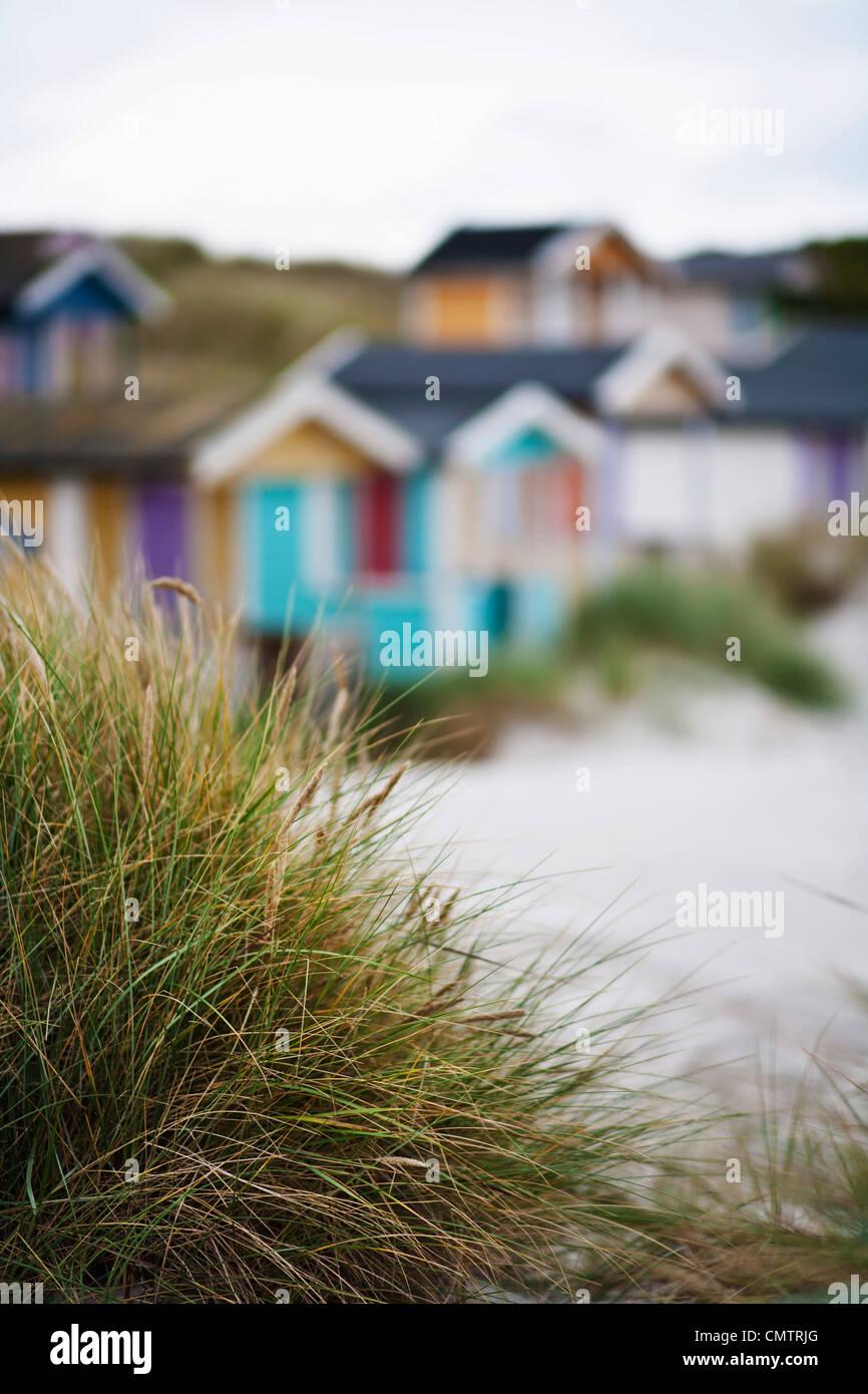 Verschwommenes Bild der cottages Stockbild