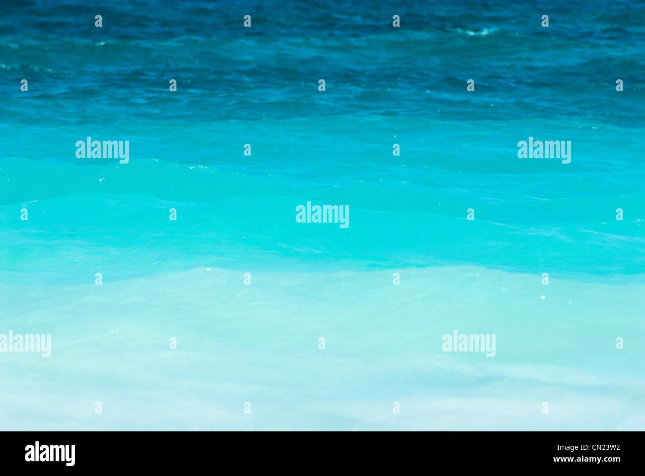 Blaue Fläche des Meeres Stockbild
