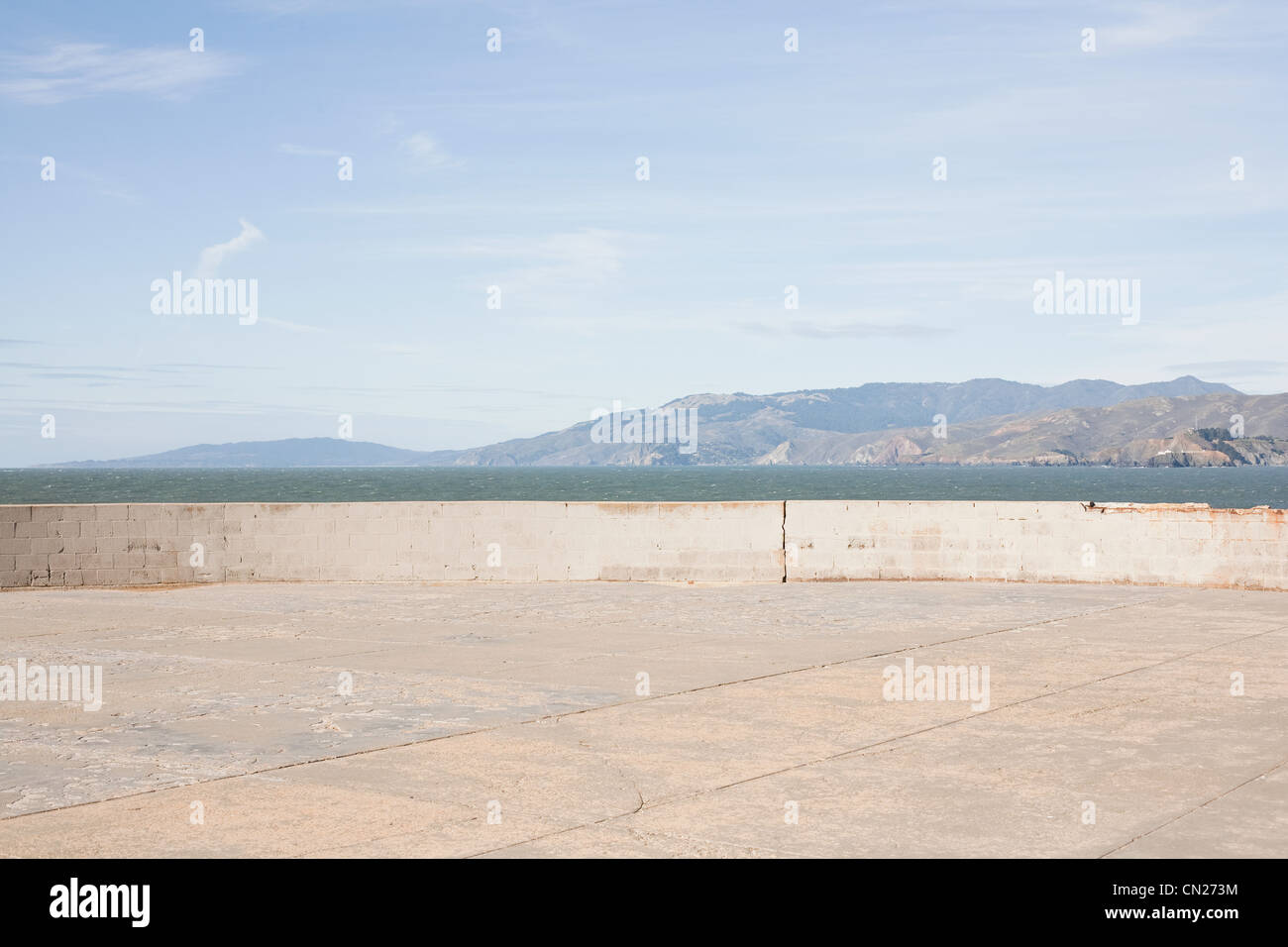 Leere Aussichtspunkt, San Francisco, Kalifornien, USA Stockbild