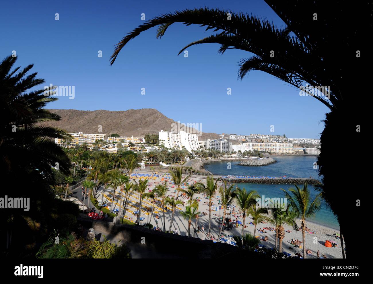 Anfi Del Mar Resort und Strand, Gran Canaria, Kanarische Inseln Stockbild