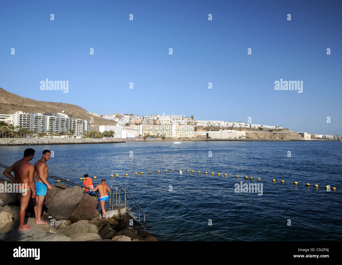 Anfi Del Mar Resort, Gran Canaria, Kanarische Inseln Stockbild