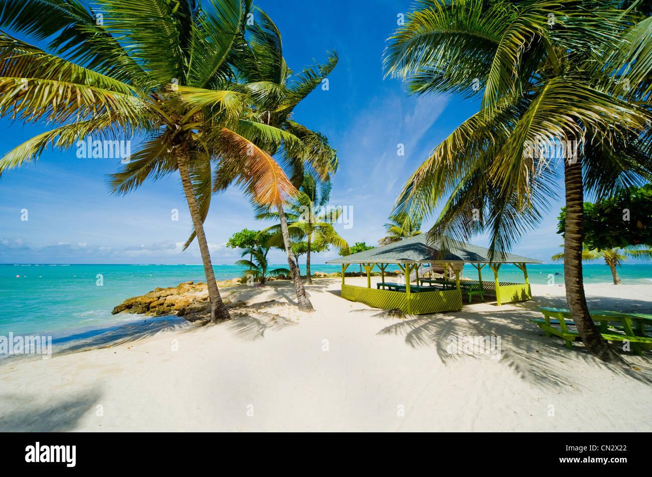 Pigeon Point Beach, Tobago Stockbild