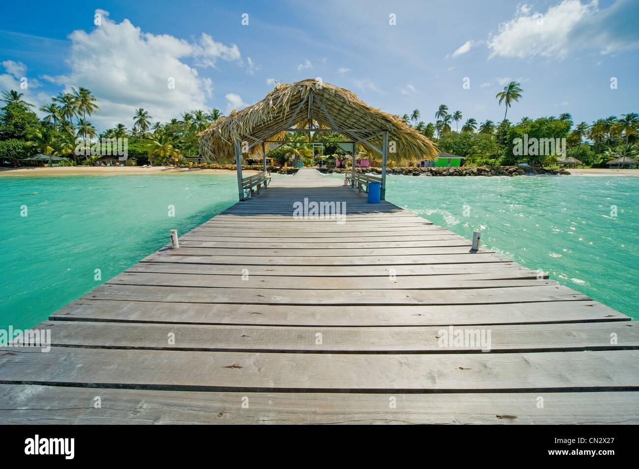 Steg aufs Meer, Pigeon Point, Tobago Stockbild