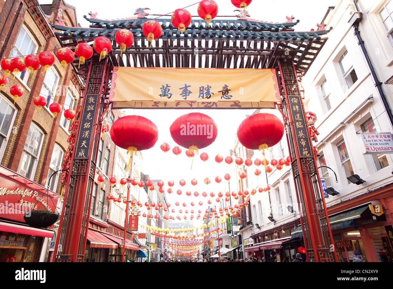 Chinese New Year, China Town, London Stockbild
