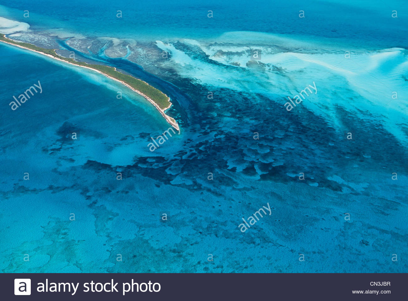 Antenne, Bimini Islands, Great Bahamas Bank, Bahamas Stockbild