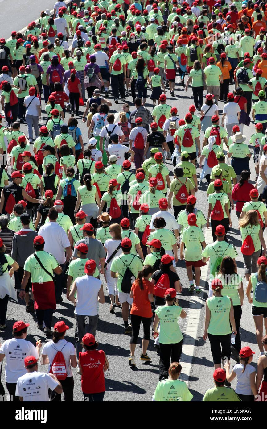 Meia Maratona de Lisboa, Portugal Stockbild