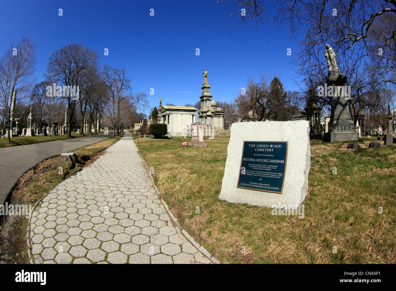 Historischen Greenwood Cemetery Brooklyn New York City Stockbild