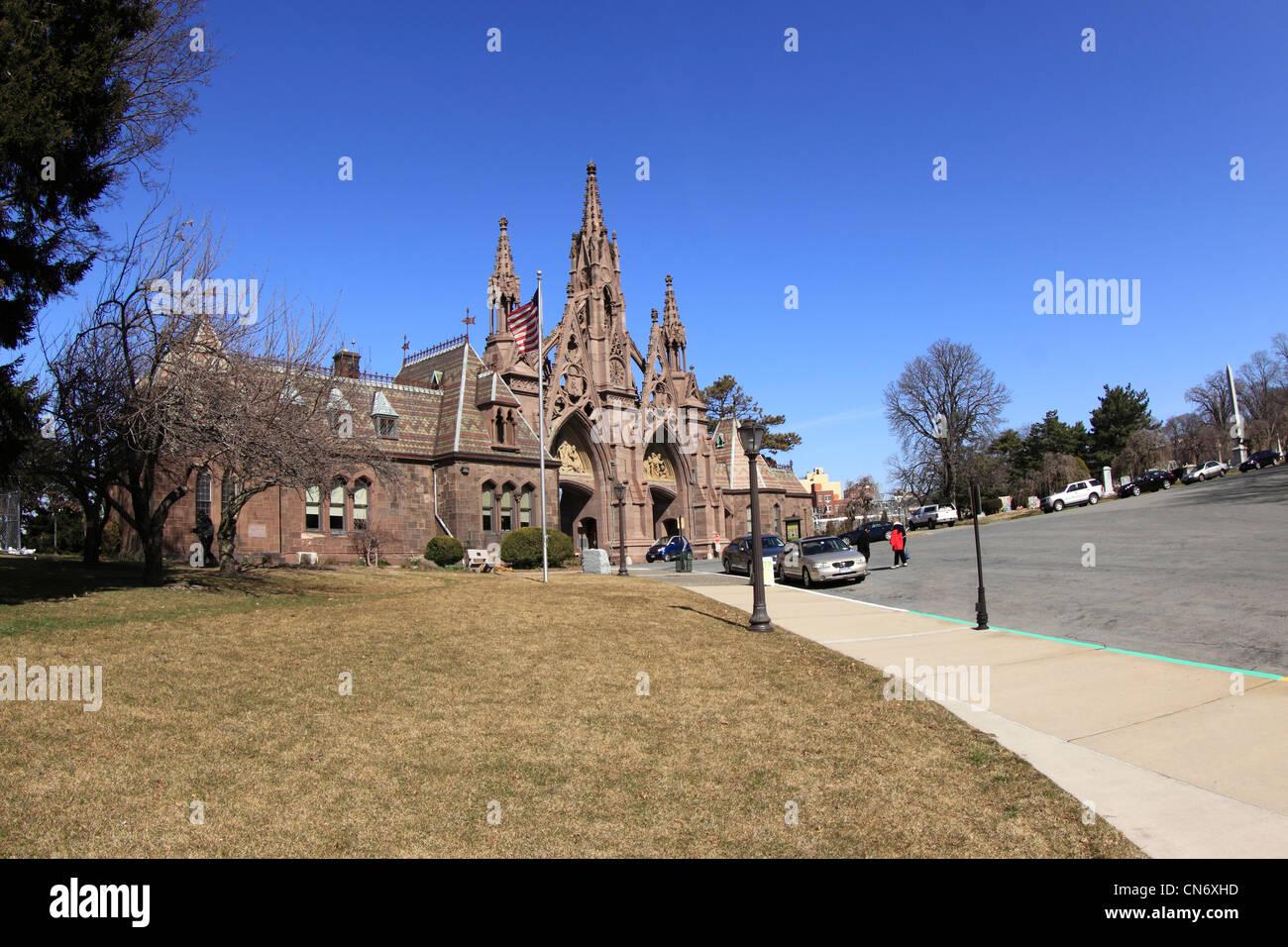 Eingang zum Greenwood Cemetery Brooklyn New York City Stockbild