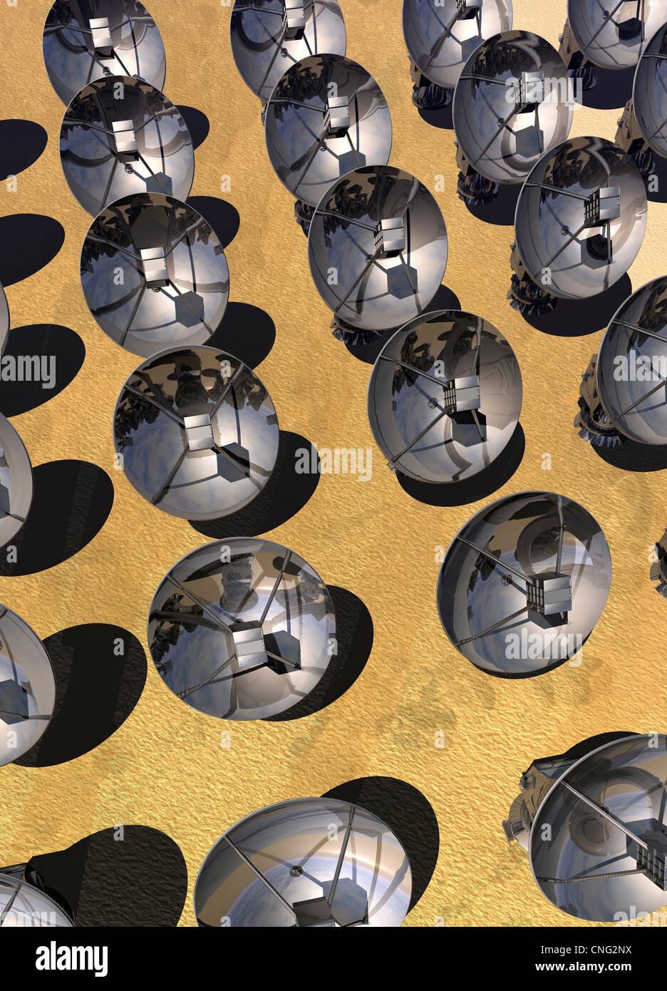 Sat-Array Kunstwerk Stockbild