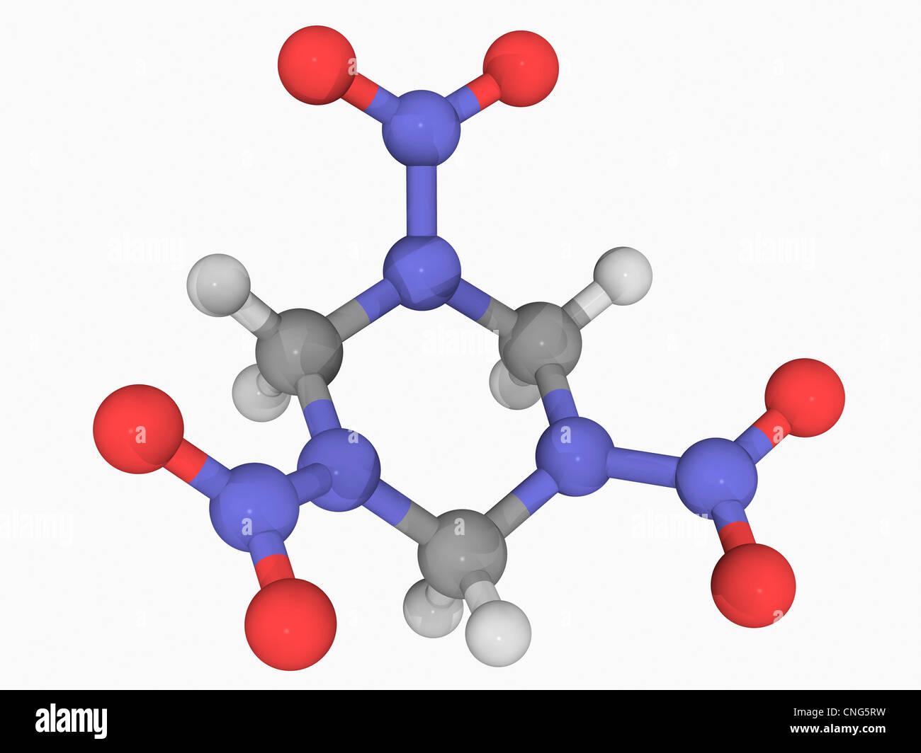 RDX explosive Molekül Stockbild