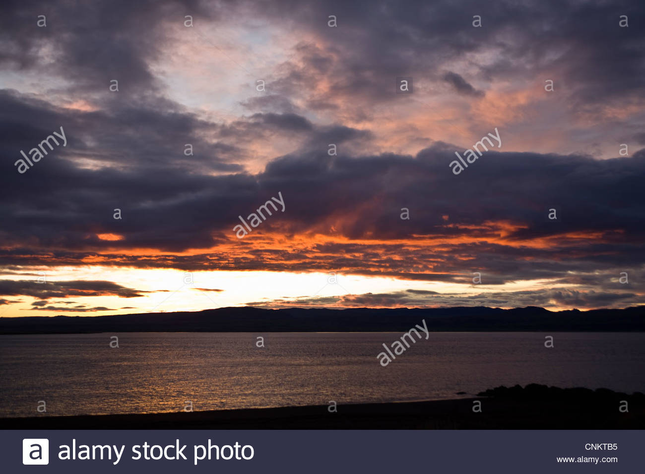 Dramatische Wolken über ländliche Landschaft Stockbild