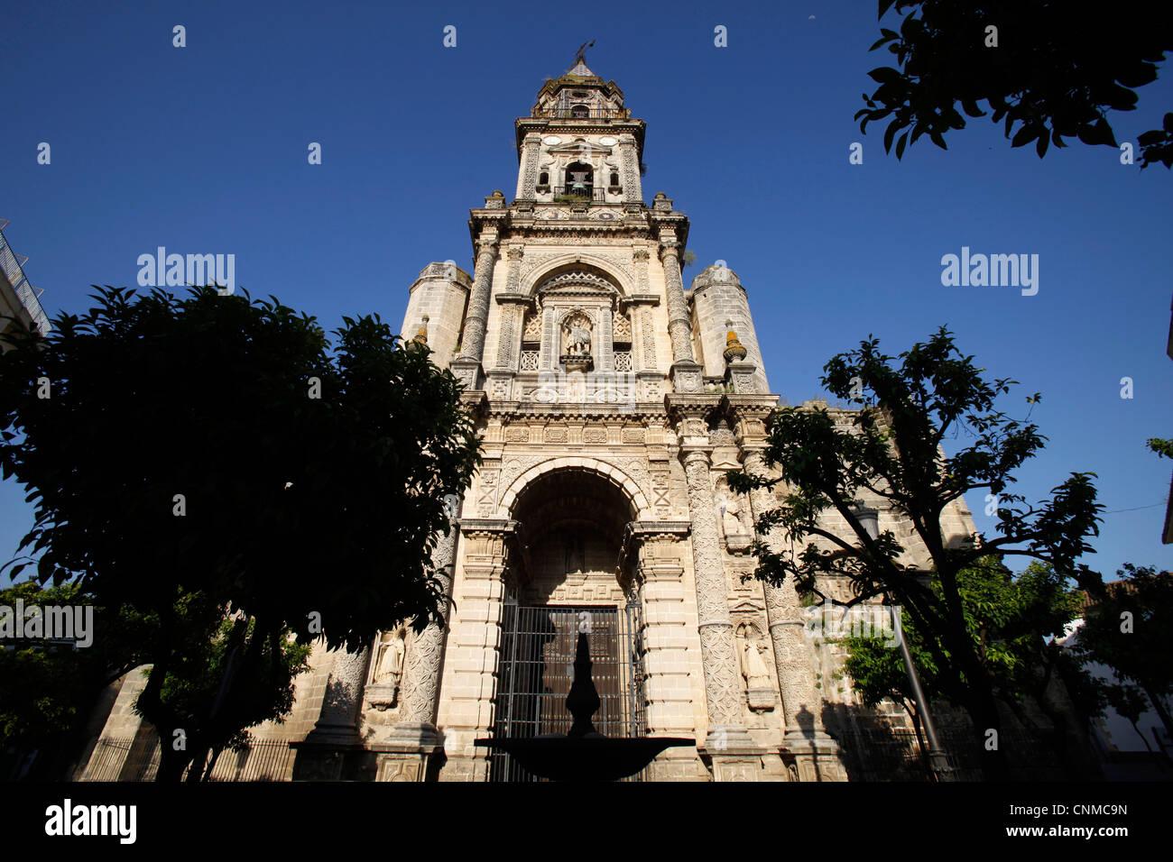 St. Michael Kirche, Jerez De La Frontera, Andalusien, Spanien, Europa Stockbild