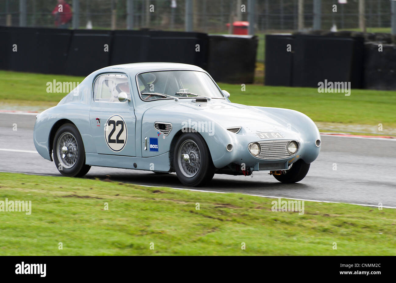 Austin Healey Sebring Sprite Sport Rennen Auto am Oulton Park Motor Racing Circuit Cheshire England Vereinigtes Stockbild