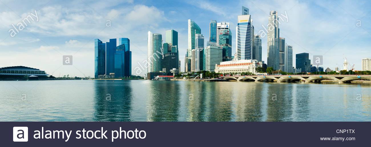 Die Skyline der Stadt, Singapur Stockbild
